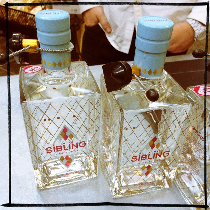 Sibling Distillery Gin Bottles