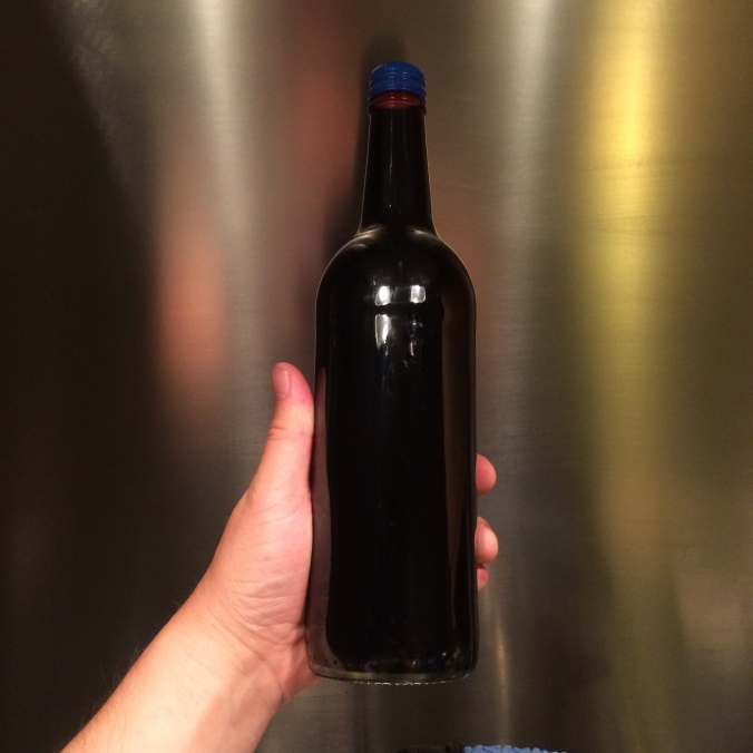Bottle of Elderberry Cordial