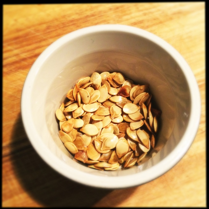 Roasted/Toasted Harlequin Squash Seeds