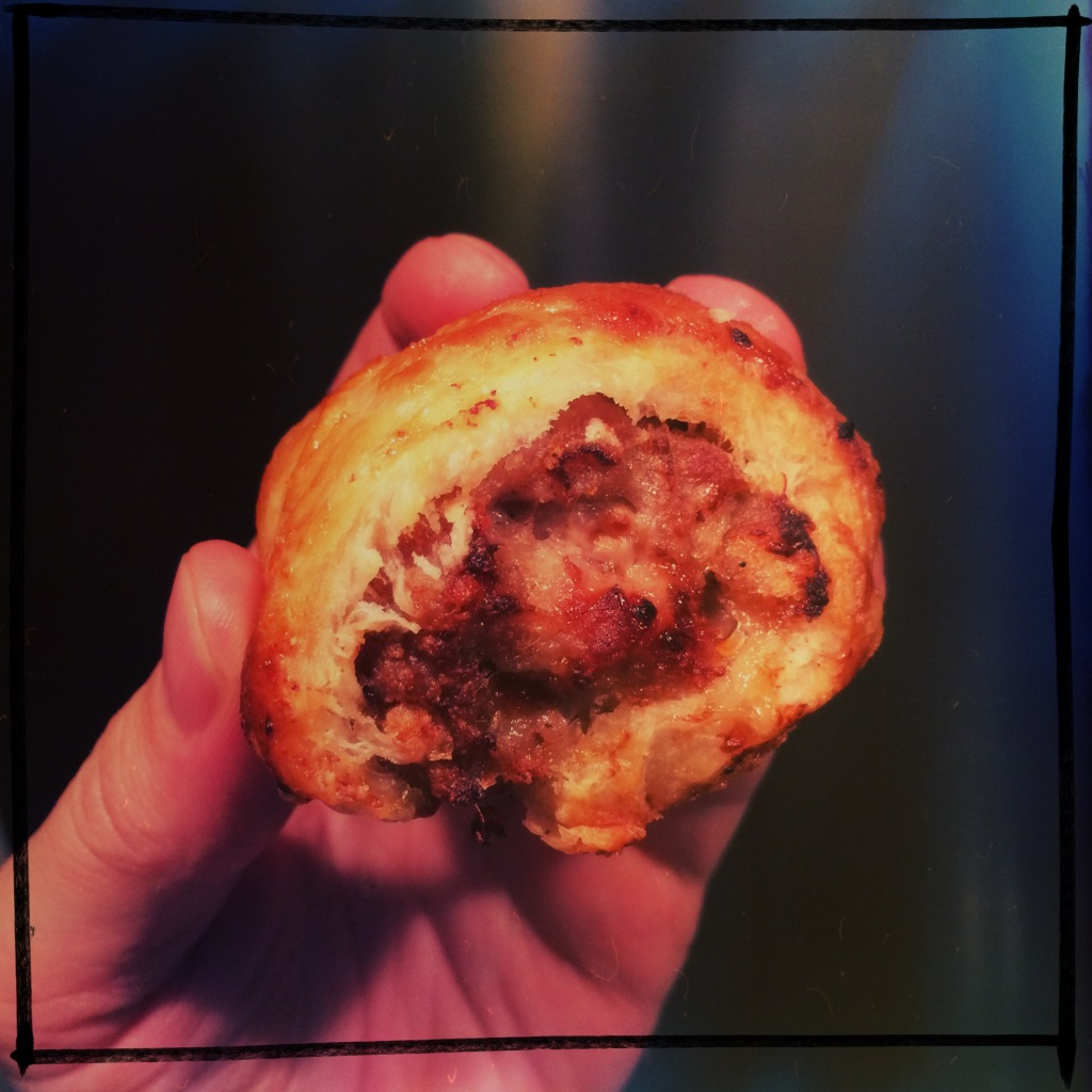 gnarly little homemade sausage roll