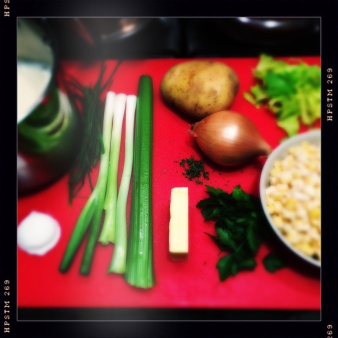 Ingredients for Jamie Oliver's Corn Chowder