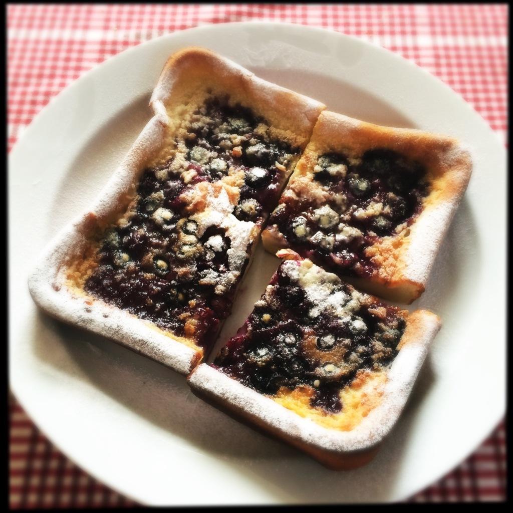 Valentines Baked Blueberry Pancake