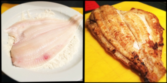 plaice: before and after