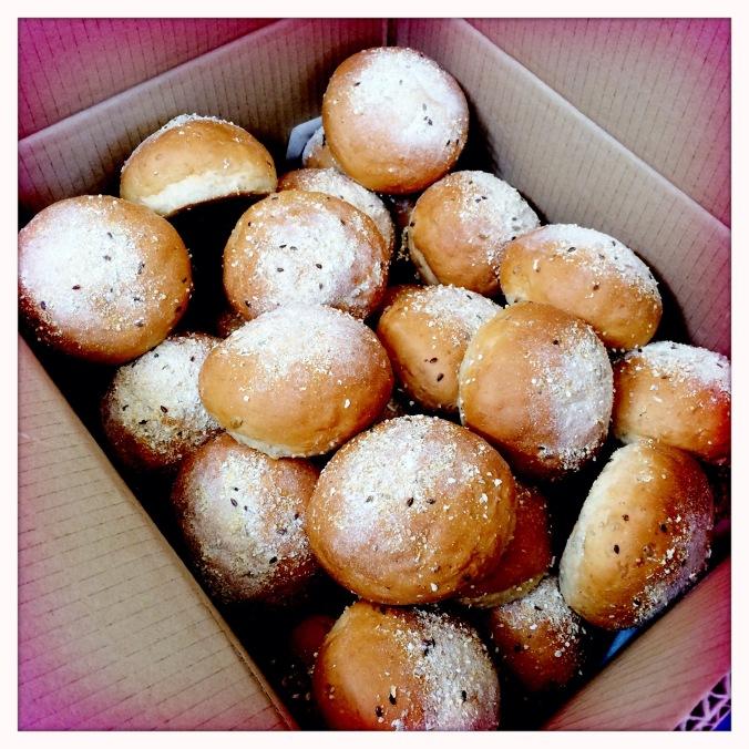 Freshly baked rolls from WFM