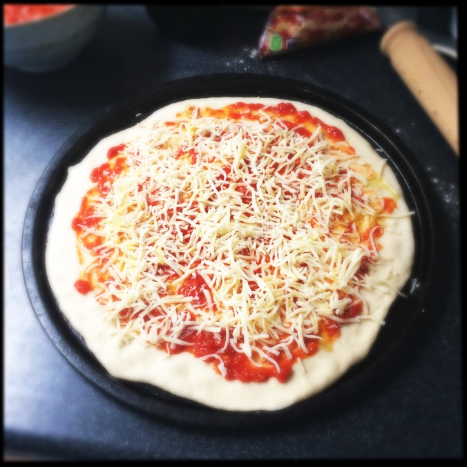 Pizza ready to be cooked