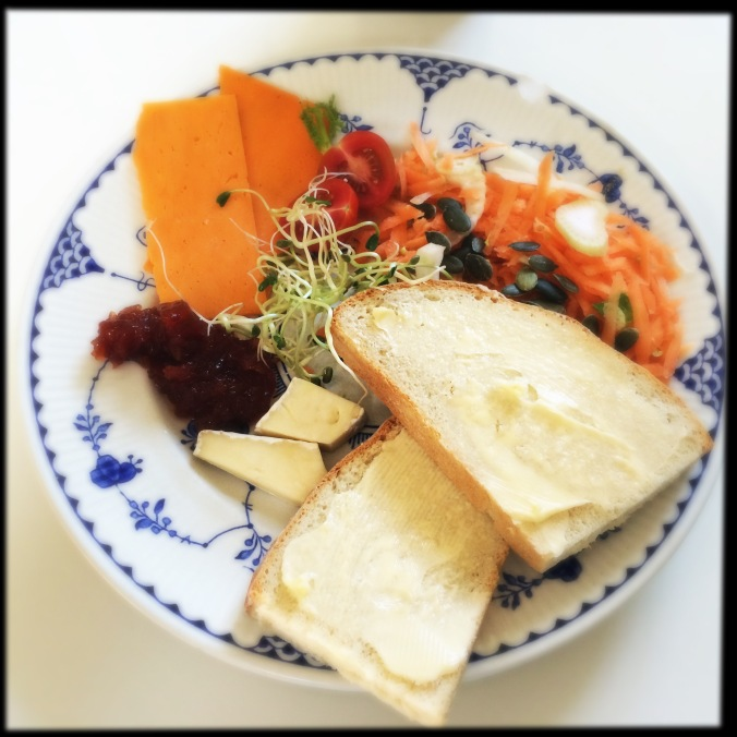ploughman's with sprouted seeds
