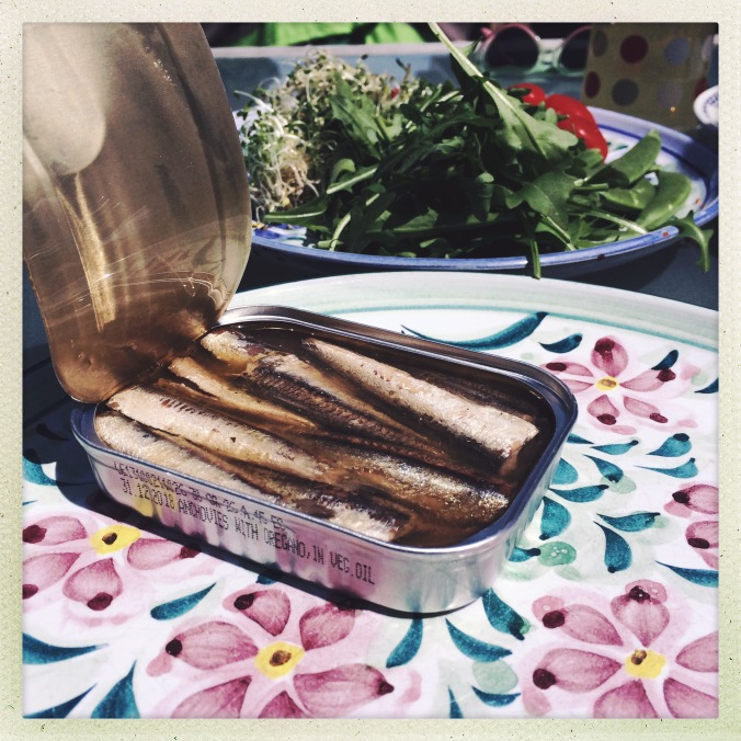 anchovies for lunch