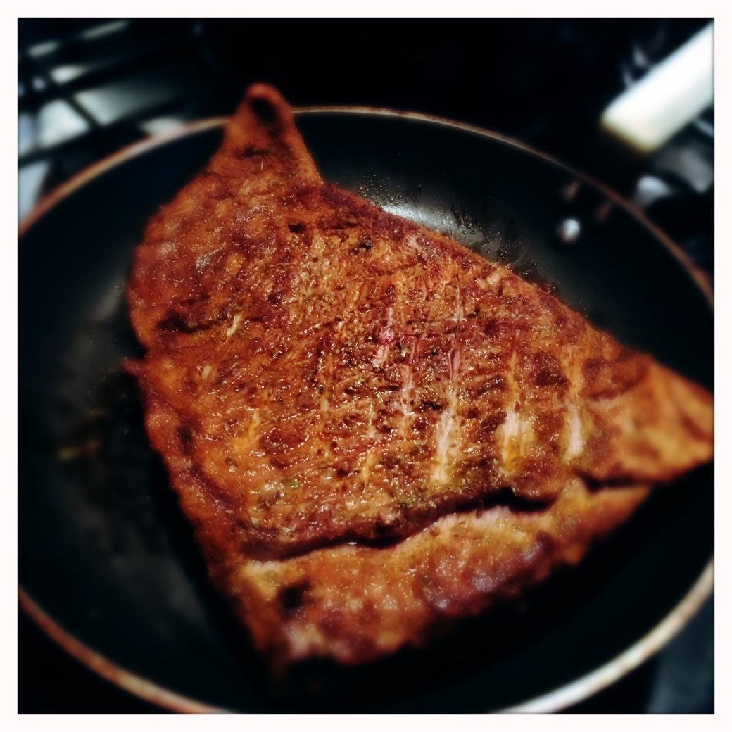 Browning beef brisket