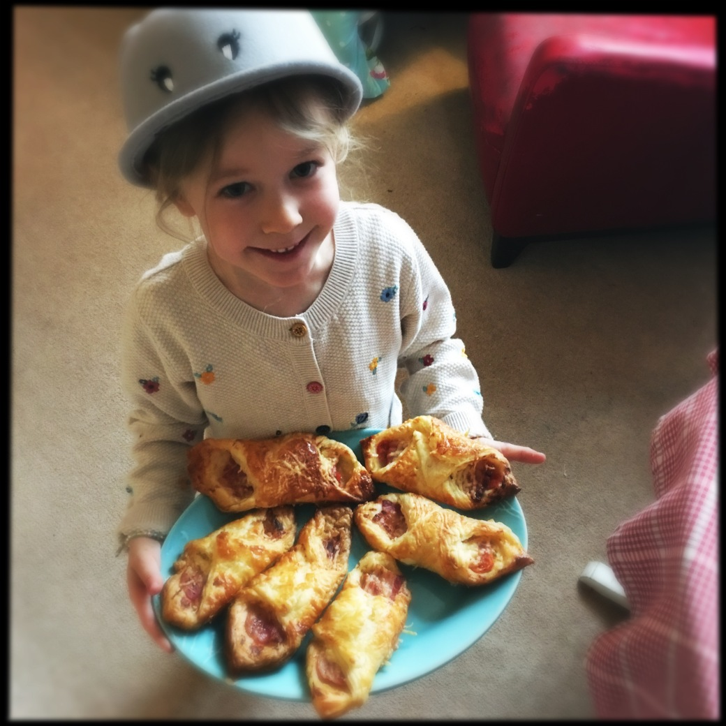 Winter and the cheese bacon tomato turnovers