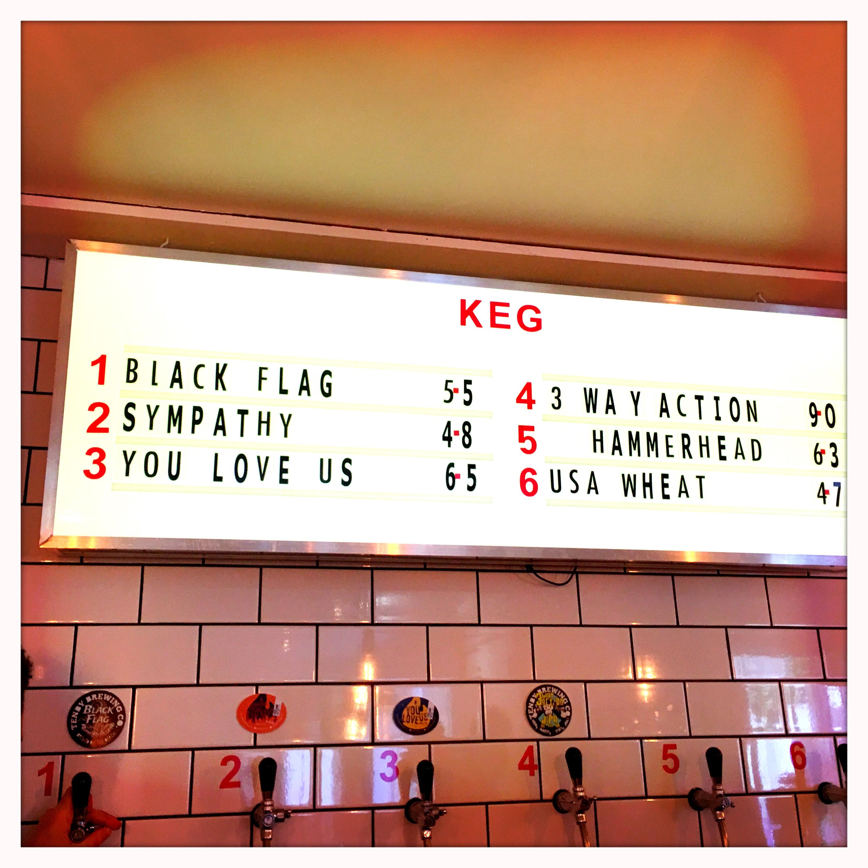 Keg beers