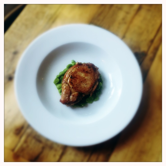 Pork Chop on Broad beans