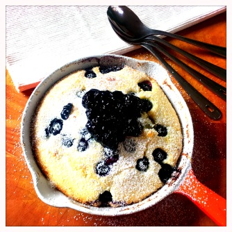 blueberry baked pancake