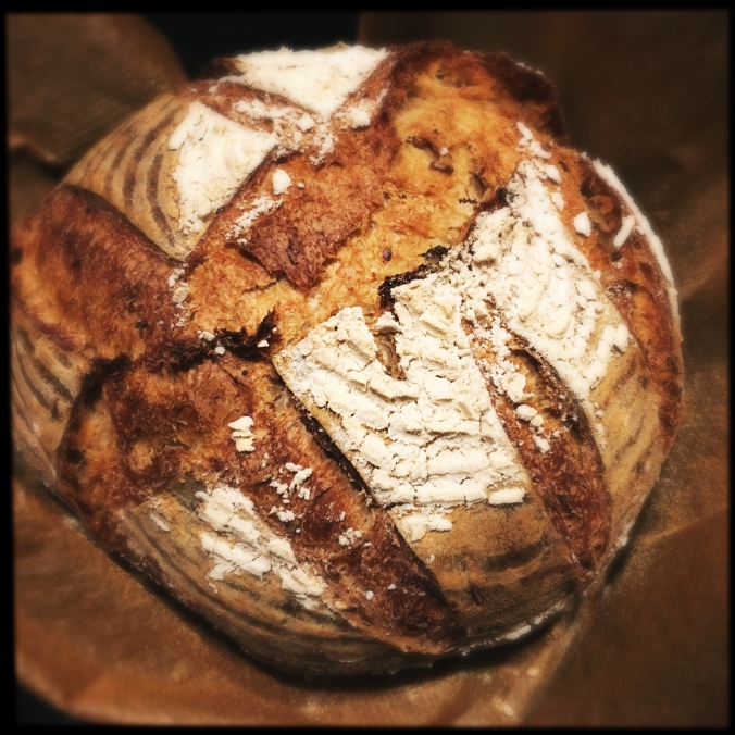 freshly baked sourdough bread
